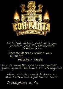 Anniversaire à Thème Koh Lanta Thème Koh Lanta Koh