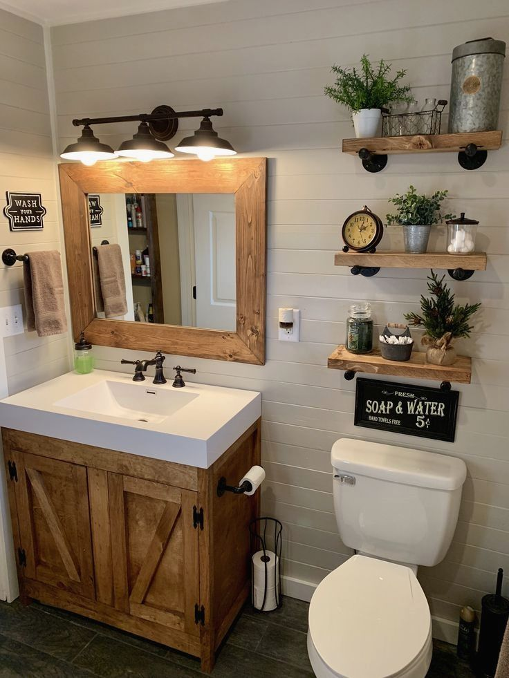 Rustic Bathroom Inspirations - BEST DIY LISTS