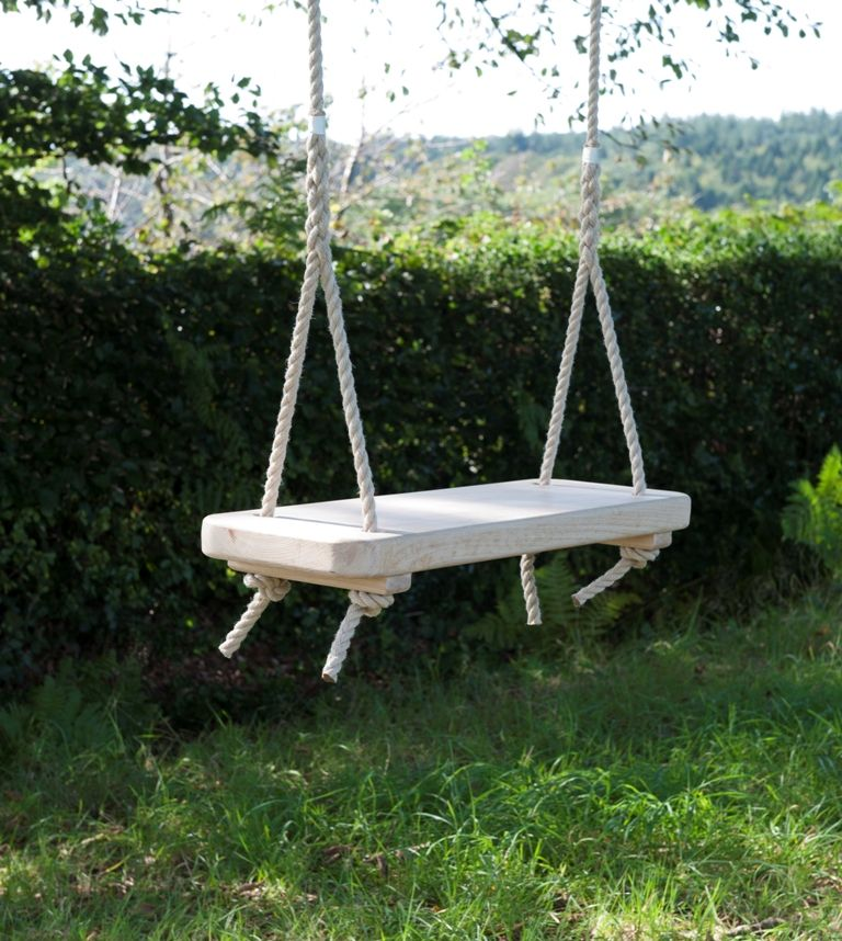 Rhs Chestnut Rope Swing Swing Pinterest Garden Swing Seat