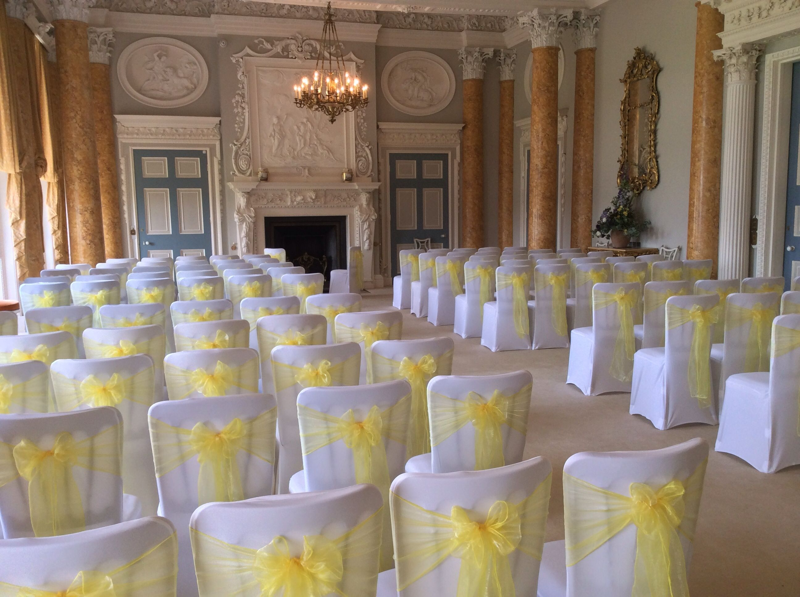 Wedding Chair Covers Burton On Trent Hanging Price We Styled Lemon Organza Sashes At Stoneleigh Abbey For A Spring