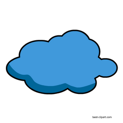 This Is A Png Clip Art Image Of A Blue Cloud With A Thick Black Outline Clip Art Free Clip Art Cloud Outline