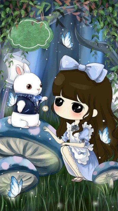 Alicia En El Pais De Las Maravillas Con Imagenes Dibujos Kawaii