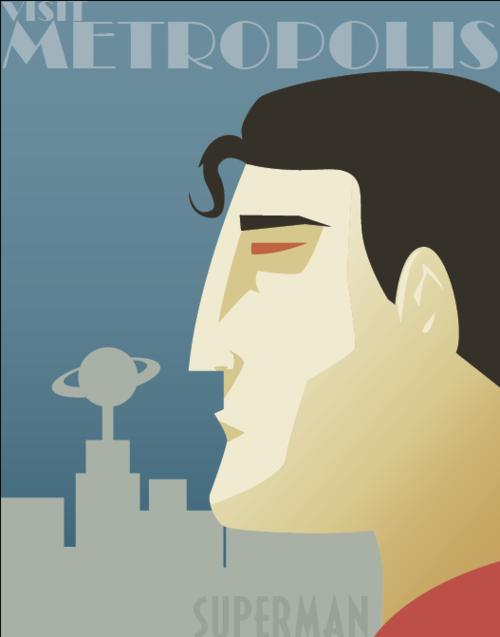 Retro Travel Posters Feature Iconic Superheroes [Pics]