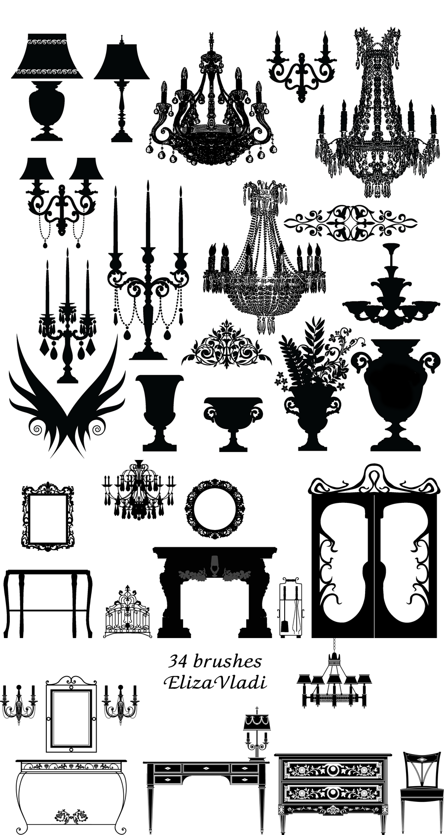 Antique chair silhouette - A Large Selection Of Great Free Images From This Artist Furniture Sale Antique