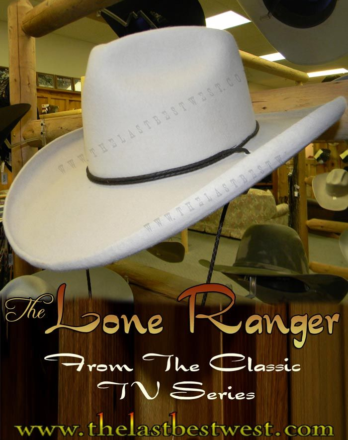 Lone Ranger custom cowboy hat a classic tv series hat handmade by the last  best west This is the Clayton Moore hat from that great tv series The Lone  Ranger 48828c3b273