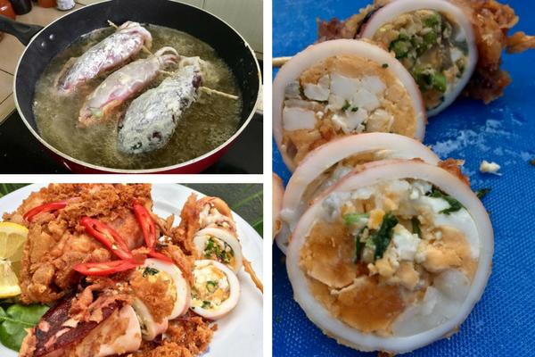 Resipi Berbahaya Sotong Sumbat Telur Masin Ini Mungkin Boleh Buat Anda Makan Sampai Lupa Diri Spicy Dishes Seafood Recipes Food
