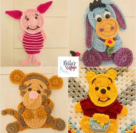 Crochet Animal Appliques Patterns - Crochet Ideas #crochethooks
