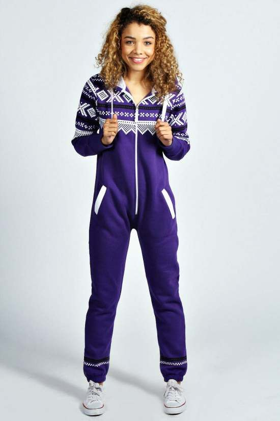 ec68bfdea573 Purple Aztec Womens Adult Onesie - Australia Qld