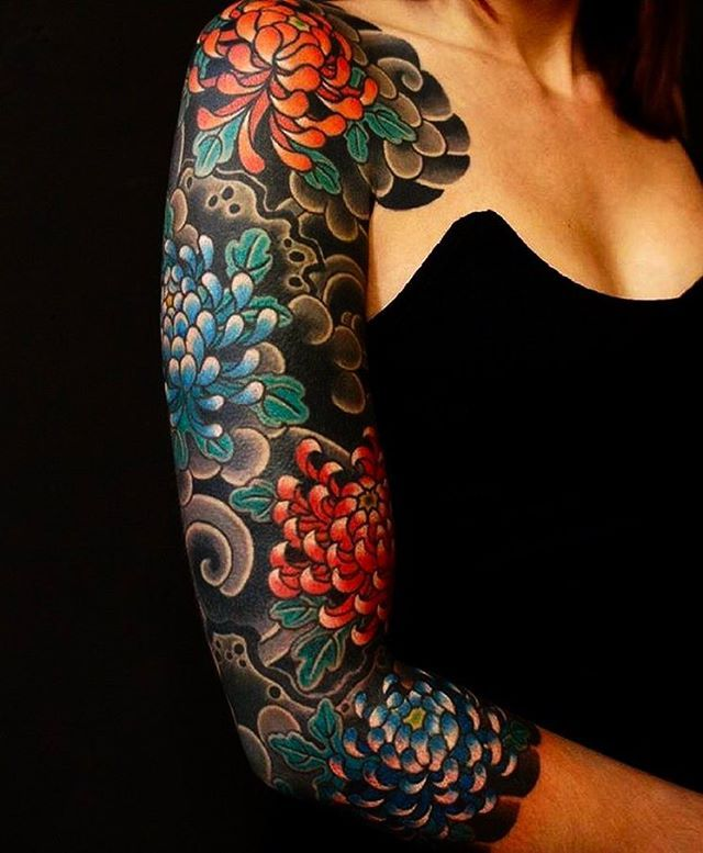 Japanese Tattoo Sleeve By Dsanchez Unity I Really Like The