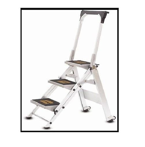 Household Step Ladder Little Giant 300 Lbs 3 Steps Aluminum Stepladder Littlegiantladders Little Giants Ebay Ladder