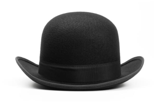 hat clip art black and white | Black Hat image - vector clip art online, royalty free & public domain