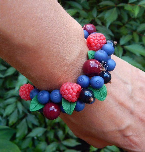 Cute Real Forest Berry Charm Bracelet