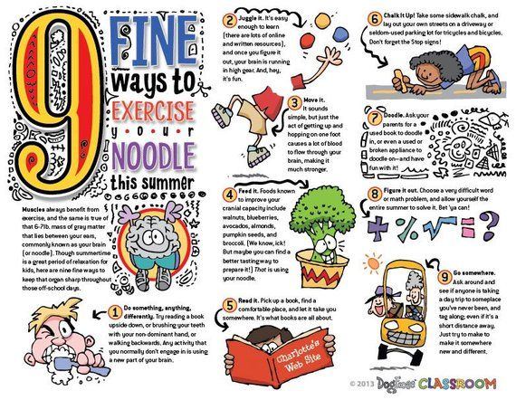 Brain exercises for kids classroom poster  pdf file   beauty