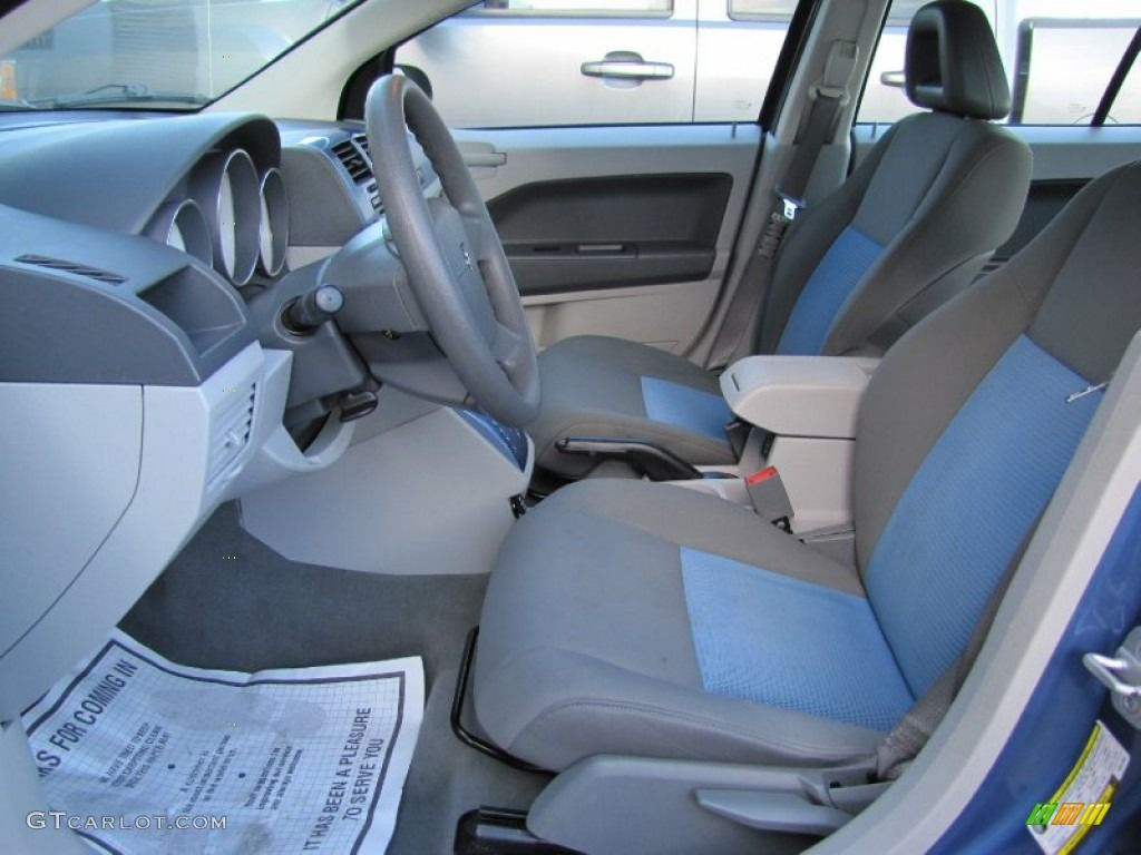 pastel slate gray/blue interior 2007 dodge caliber sxt grey and