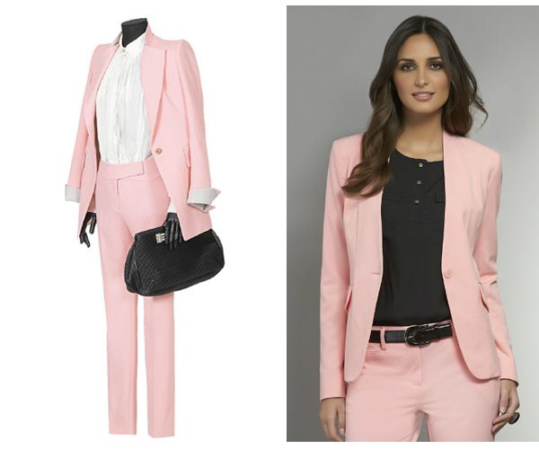 Light Pink Pant Suit Womens