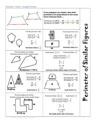 3 Foldables Similar Figures Perimeter Area Volume Finding