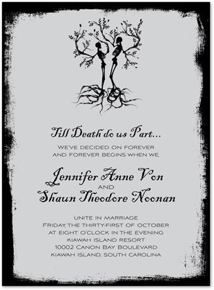 Unique death do us part wedding invitations wedding ideas unique death do us part wedding invitations filmwisefo