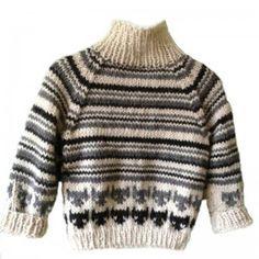 5319f7a49b0 Alpaka børnesweater med katte | baby | Strikkeopskrifter, Børn, Katte