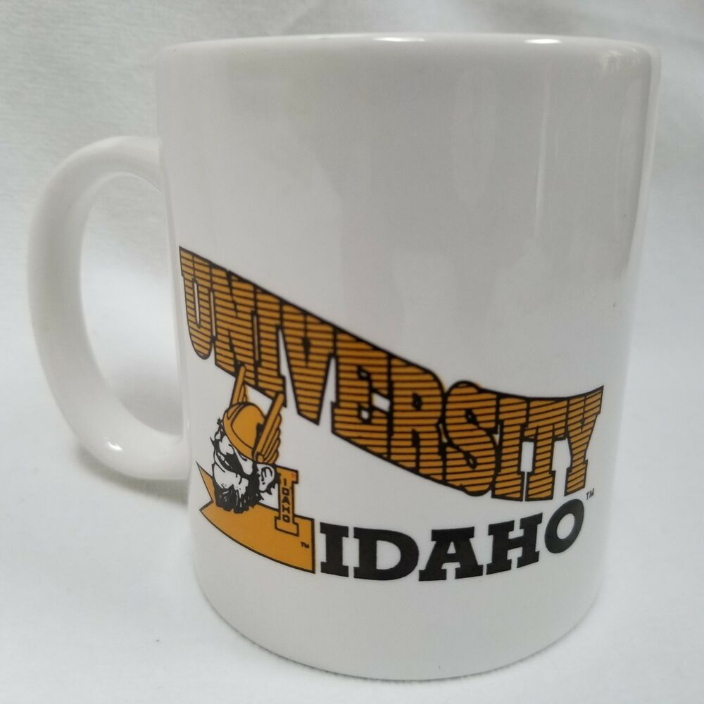 1995 University Idaho White Ceramic Coffee Mug Tea Cup By