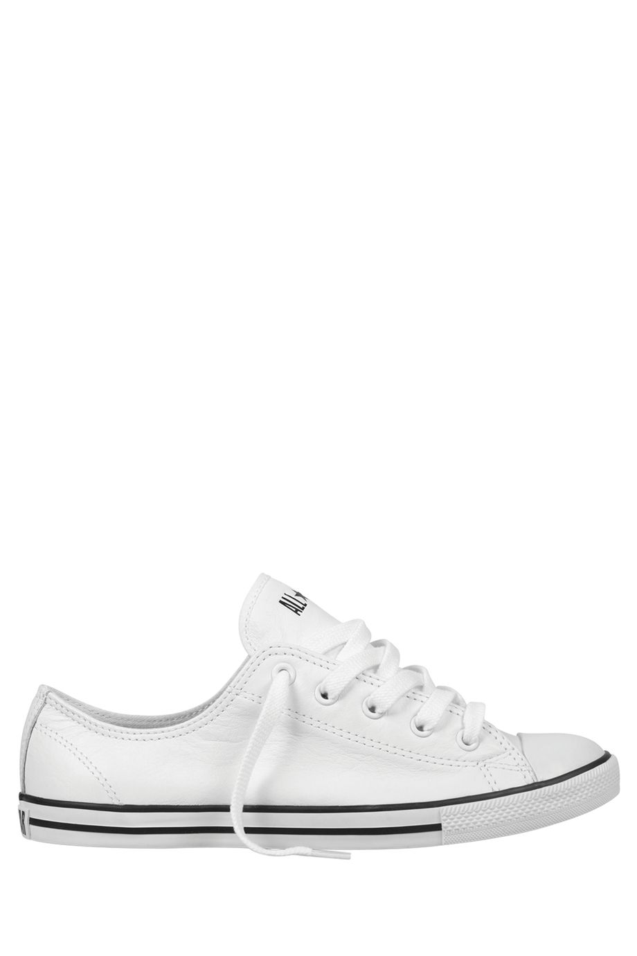 CONVERSE Chuck Taylor All Star Dainty Leather Low Top White Sneaker ... 09bb8e1ed