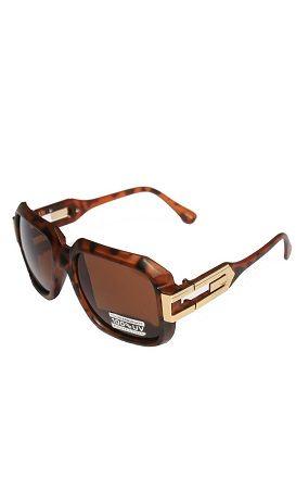 eb94b073fa7c VW Eyewear - Large Classic Retro Square Frame RUN DMC Sunglasses with Metal  Accent
