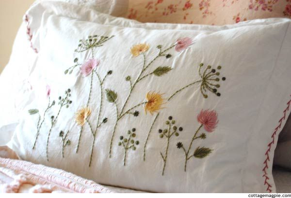 A Little Color For The Master Bedroom Pillows Pinterest Unique Pillow Cover Hand Embroidery Designs