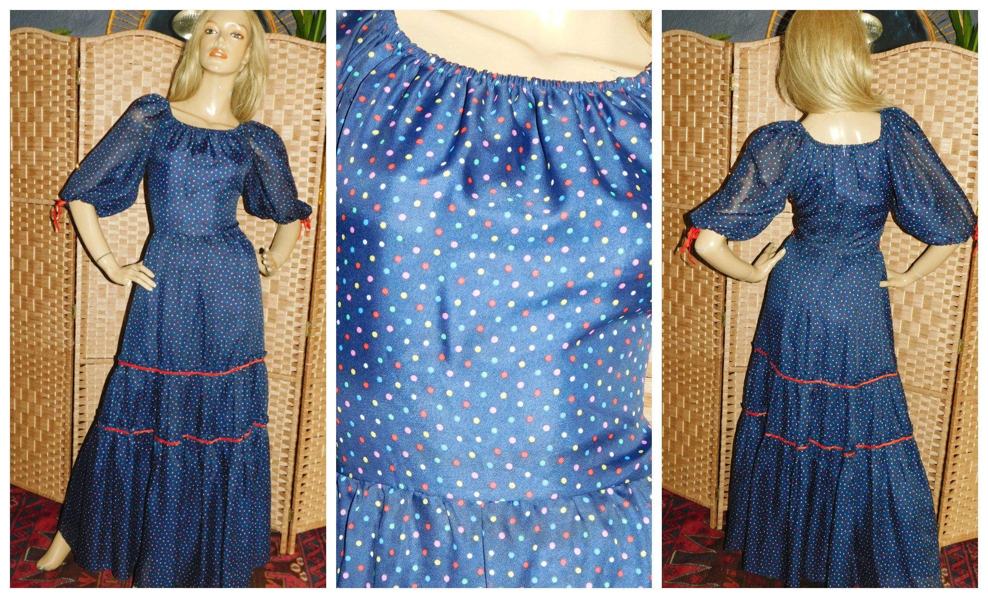 70s velvet PURPLE not blue maxi dress XS 1970s