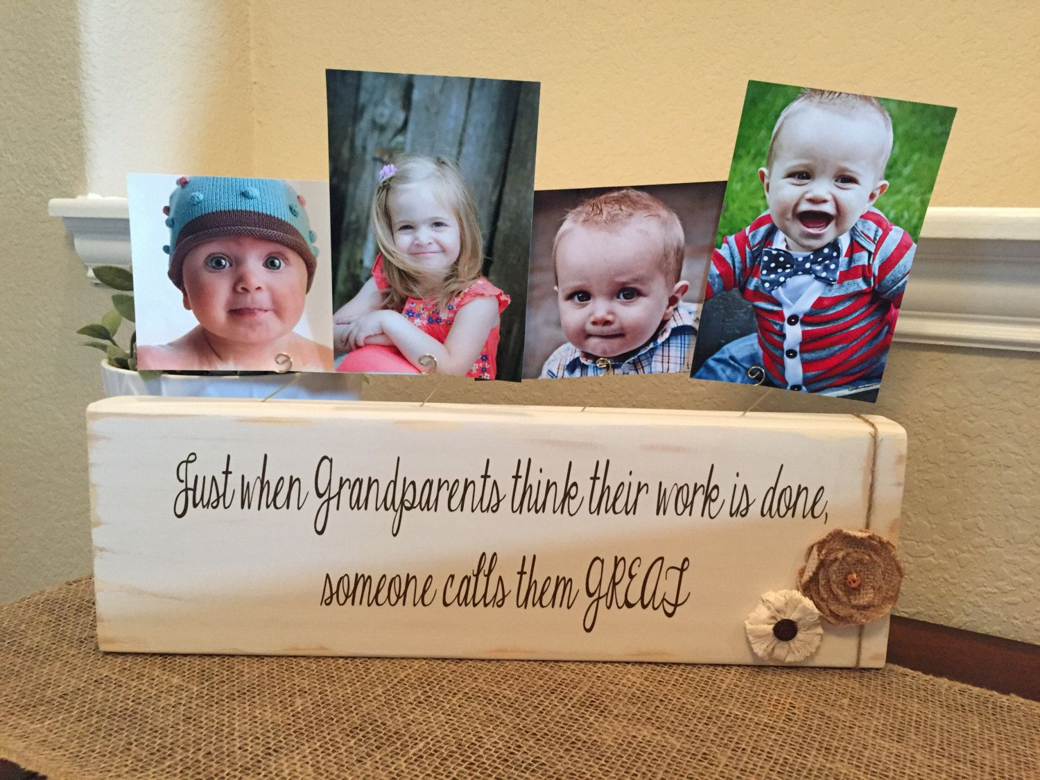 Great grandparents gift frame Personalized picture frame gift for ...