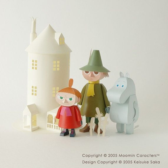 Kit de bricolage Moomin papier Craft par SweetSuppliesStore sur Etsy