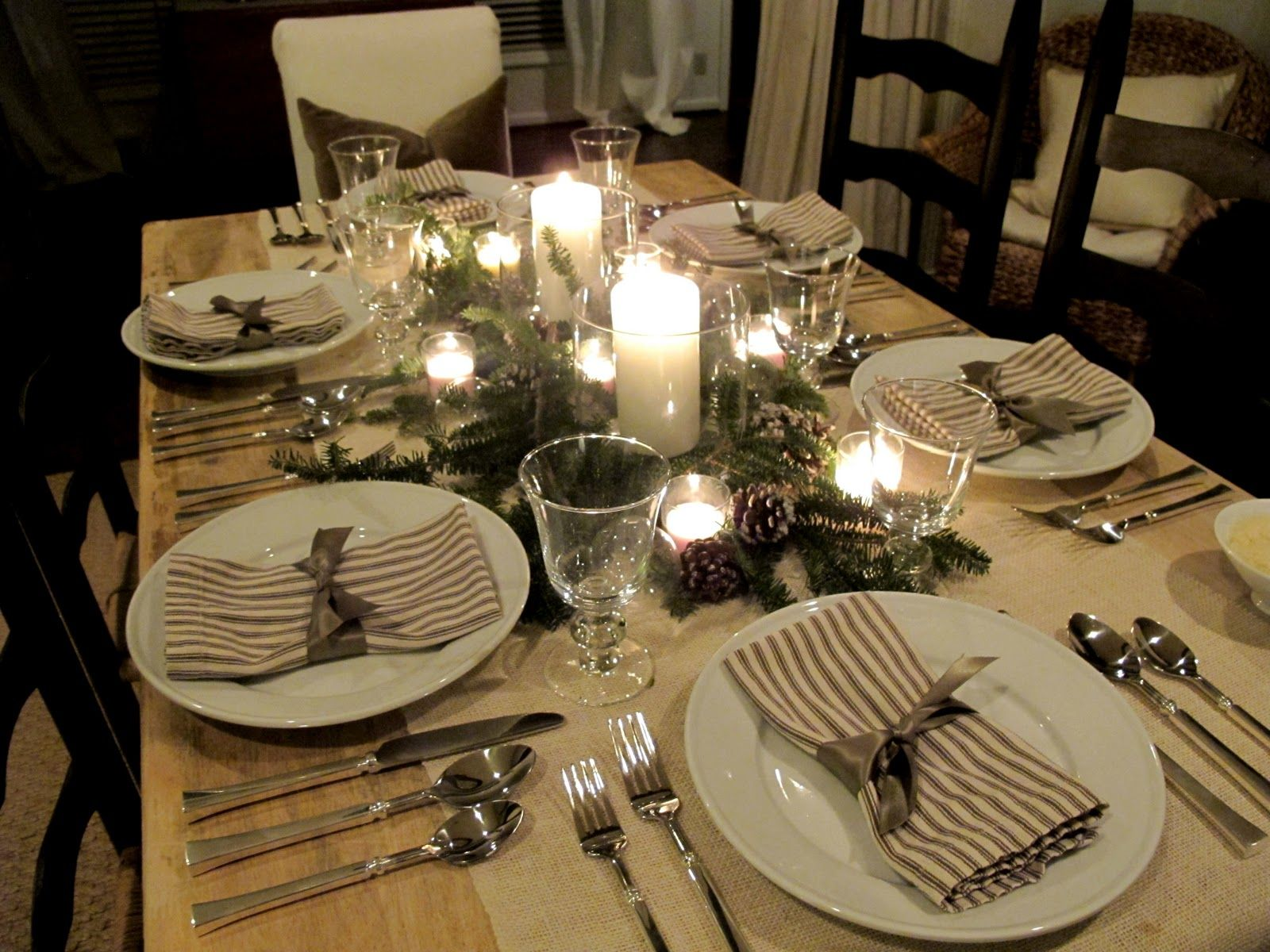 Dinner Table Setting Ideas Paula | ... Tuscan Pasta Party | Easy Holiday  Entertaining