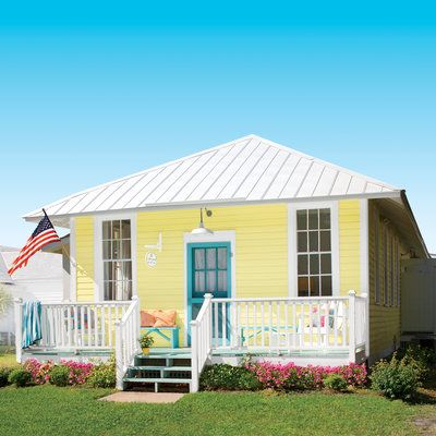Tour This Happy Yellow Beach Cottage Our Ultimate Beach