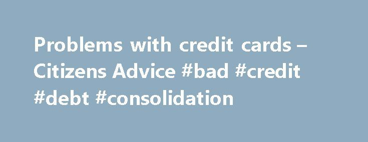 Consolidating credit cards good or bad