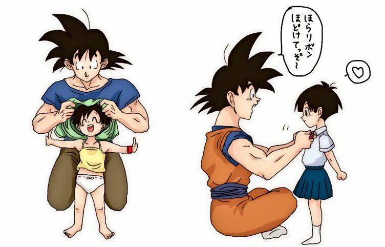 Grandpa Goku And Granddaughter Pan Goku S Favourite Little Girl Anime Dragon Ball Dragon Ball Art Dragon Ball Super