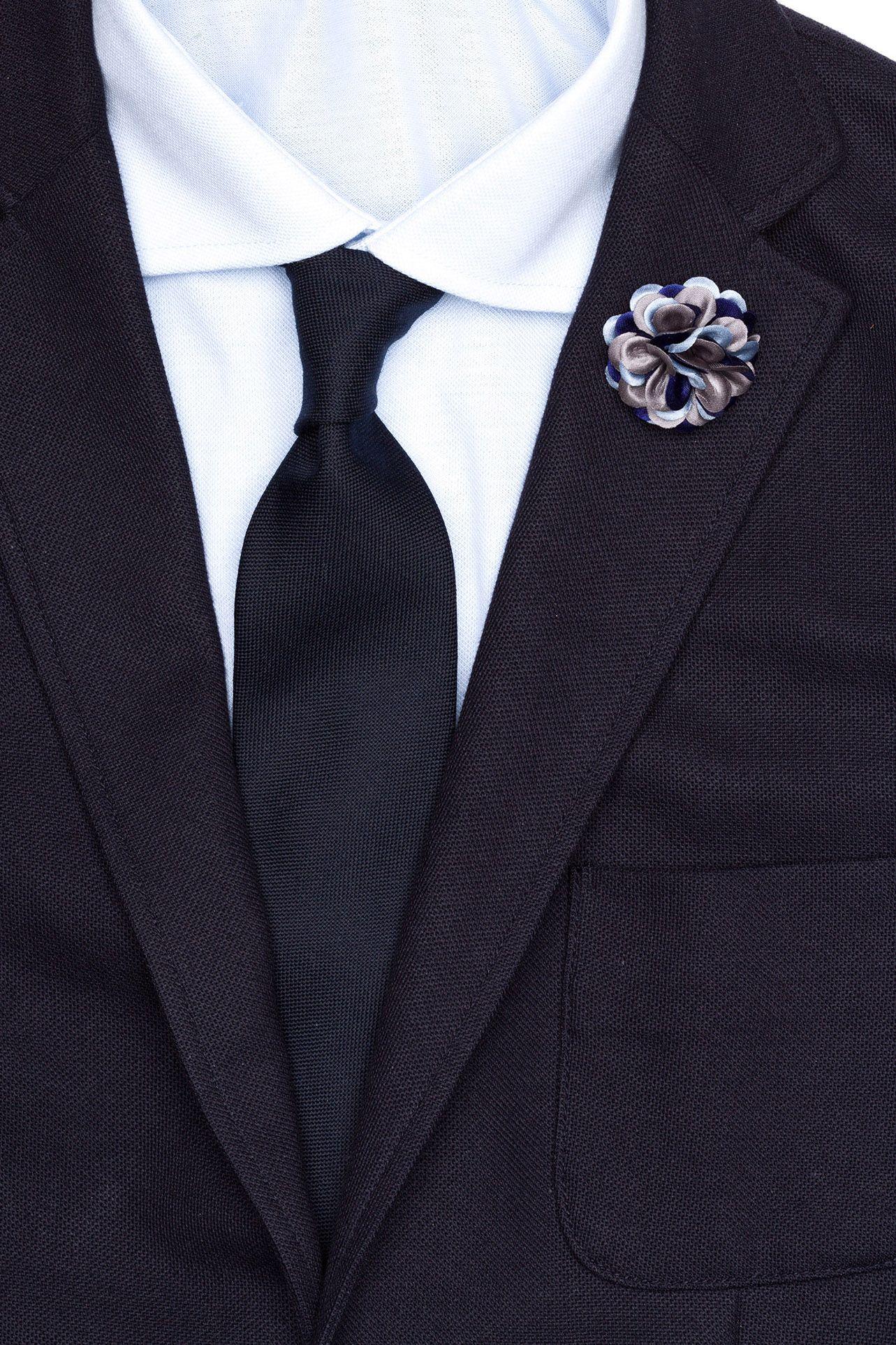 Lapel Flower at hook + ALBERT in grape jam, blue star, dodge, siena, birch, firemouth, hunter, firebrick, gainsboro, steel blue, gardenia, jonquil, fern, orchid, aster, pronie, spruce, rhododendron