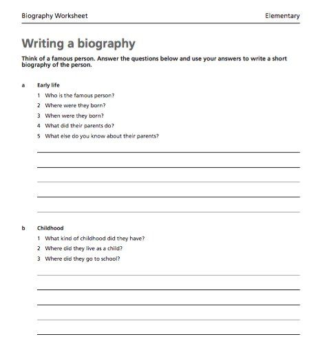 45 Biography Templates Examples Personal Professional