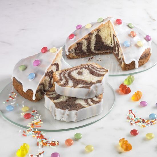 Kleine Zebrakuchen Mit Guss Fur Kinder Rezept Rezepte Kuchen