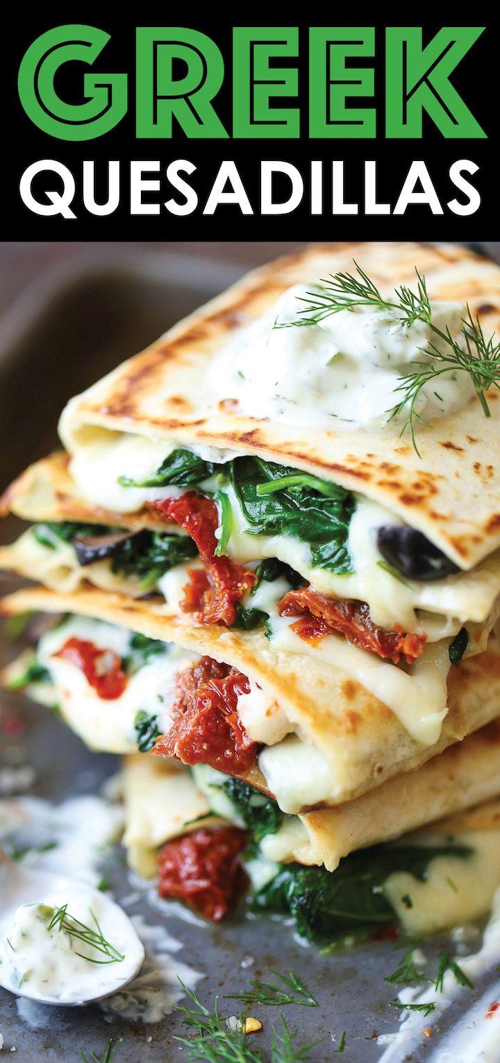 Greek Quesadillas #mediterraneanrecipes