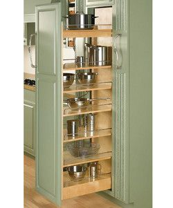 Rev A Shelf Tall Wood Pull Out Pantry With Adjustable Shelves For Kitchen Cabinet Pantry