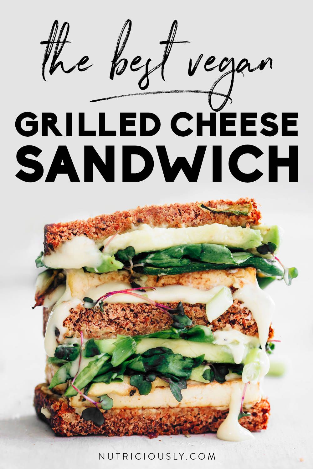 Healthy Vegan Grilled Cheese Sandwich With Avocado Spinach Recipe In 2020 Whole Foods Vegan Vegan Grilling Healthy Vegan