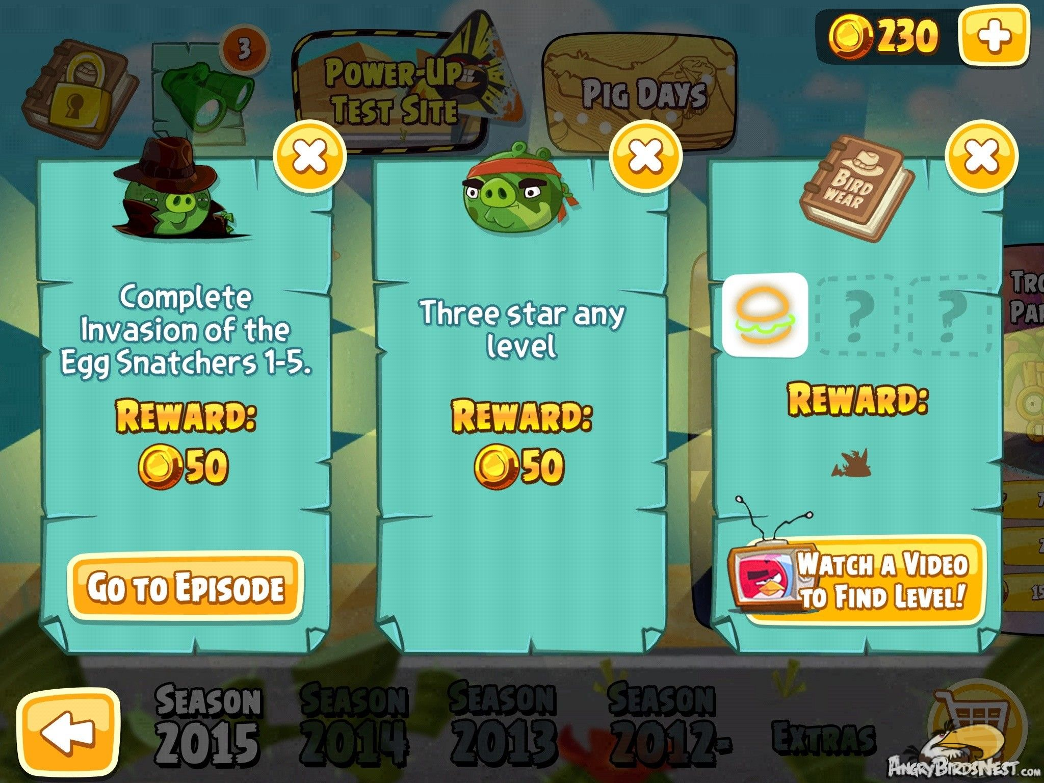 Angry Birds Seasons Invasion Of The Eggsnatchers Daily Quests