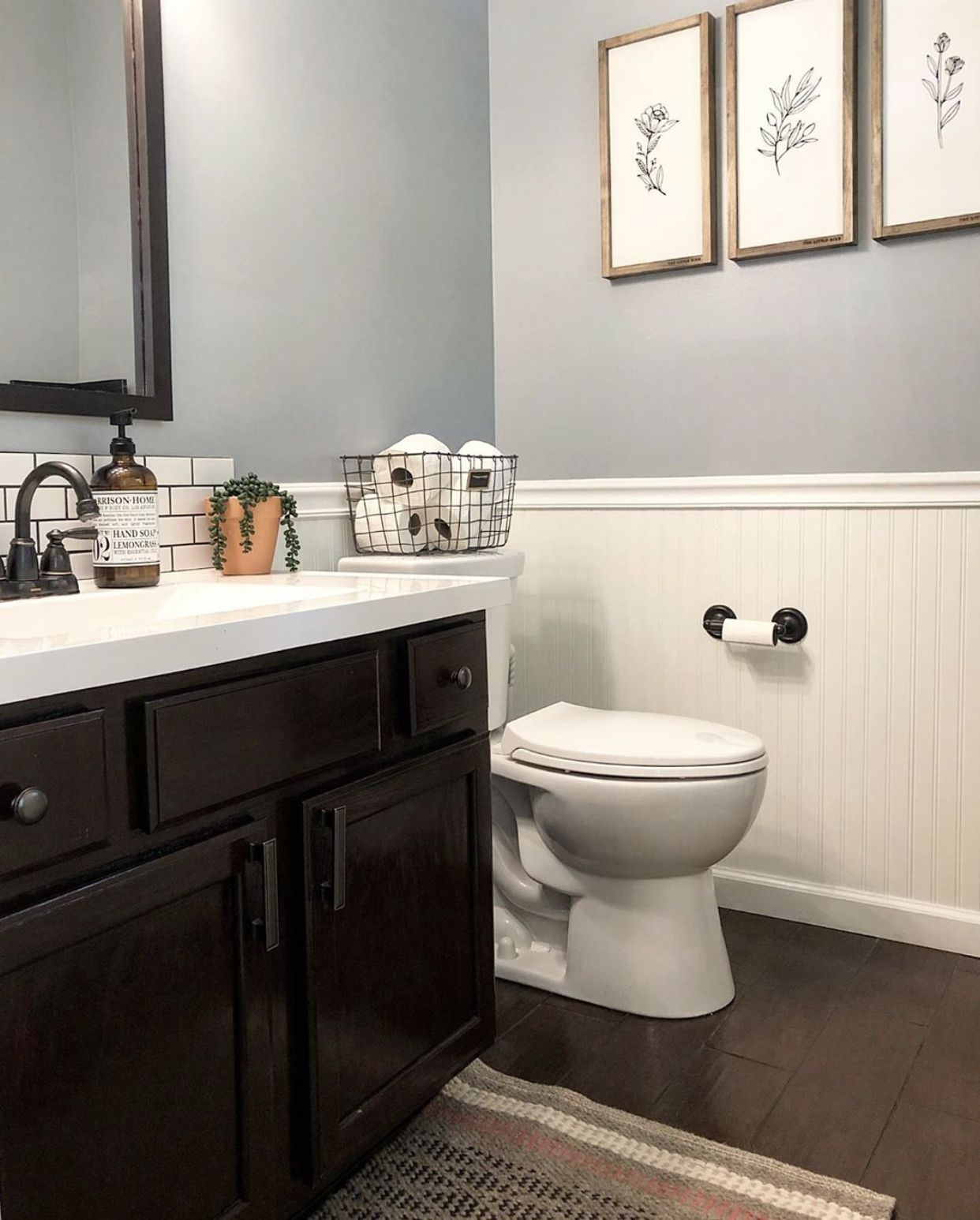 Picture From Instagram Ourhavenbliss Paint Color Sherwin Williams Online Sherwin Williams Paint Colors Guest Bathroom Small Guest Bathroom Remodel