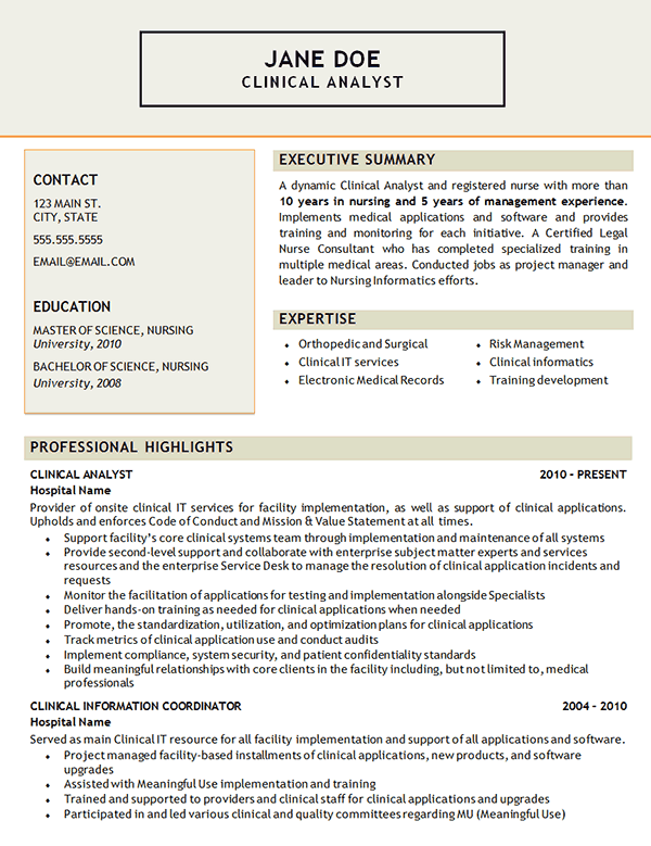Clinical Analyst Resume Examples Good Resume Examples Resume