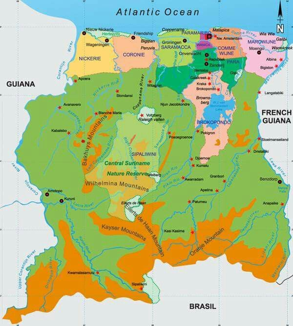 america nederland kaart