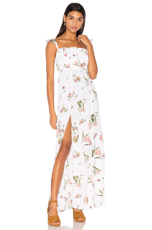 4c356e65a98 FLYNN SKYE Bardot Maxi Dress in Day Bloom
