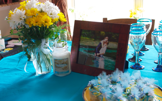 Aqua and Yellow Wedding Ideas