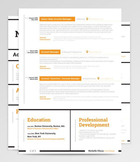 dorado resume template by rockstar cv via behance resume