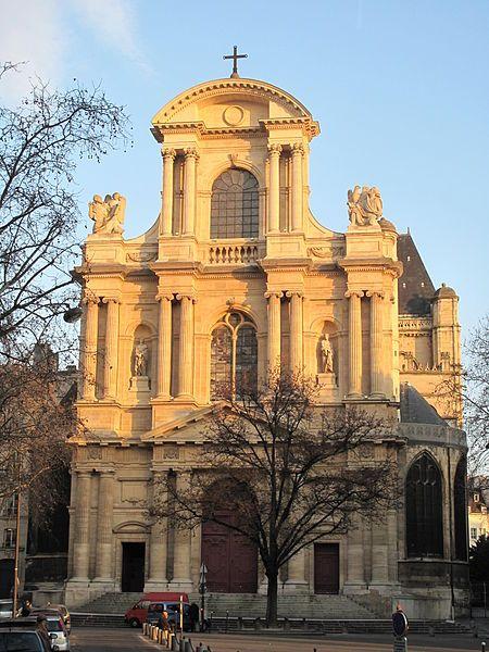 Façade de l'église St-Gervais St-Protais., Paris (IVe)