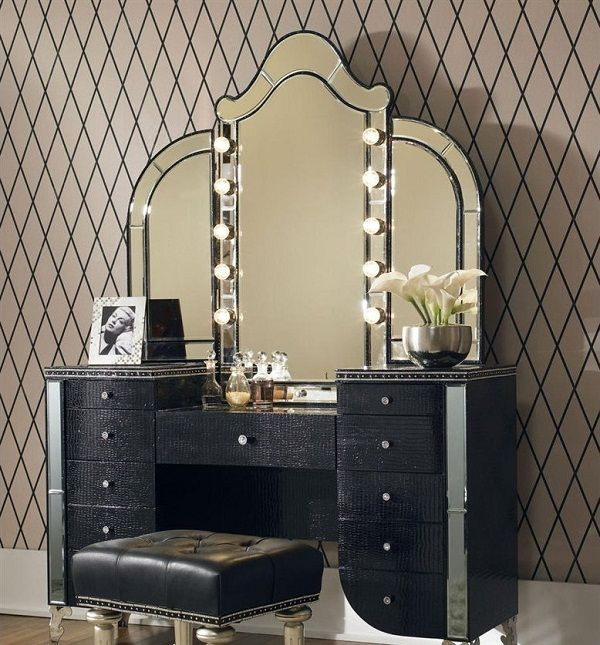 Vintage Makeup Vanity Table Azgathering Com Hollywood Swank Bedroom Vanity Aico Furniture