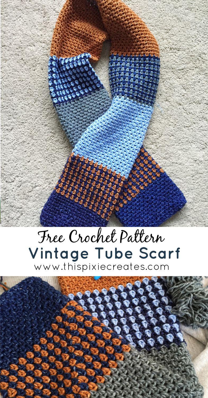 Crochet Tube Scarf Crochet Winter Scarf Free Crochet Pattern In 2020 Free Crochet Pattern Crochet Patterns Crochet Winter