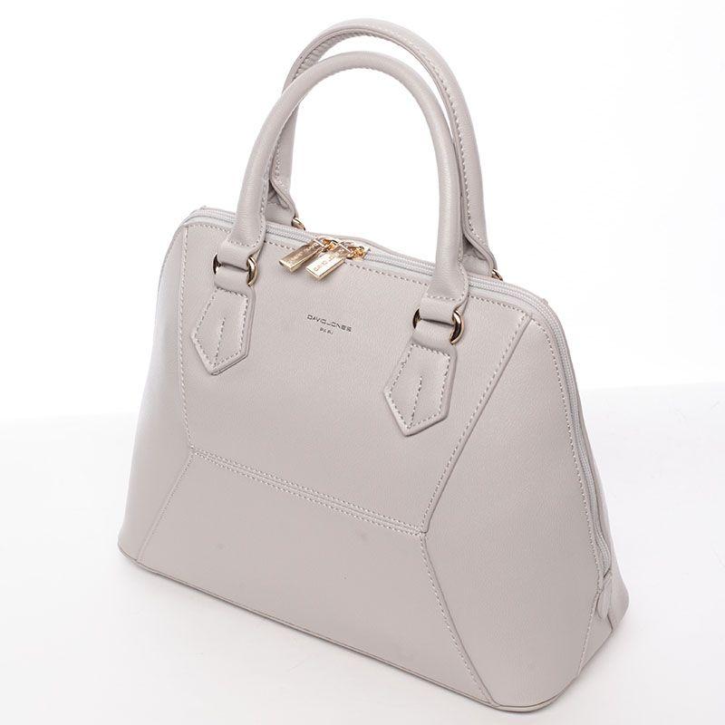 18e4545d07 Luxusní šedá kabelka do ruky.